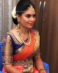 Zardozi work designer blouse for wedding Pattu Saree Blouse Designs, Blouse Designs Silk, Designer Blouse Patterns, Bridal Blouse Designs, Indian Bridal Sarees, Wedding Silk Saree, Indian Bridal Fashion, Wedding Saree Blouse, Saree Dress