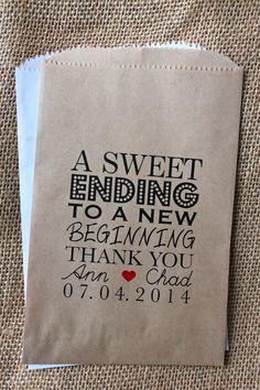Wedding Favor BagsCandy Buffet BagsWedding bags by RootedManor