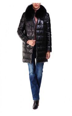 Кожаная куртка (артикул:118681000) La reine blanche