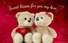 Send kisses to your love and let them know how much you love him/ her. Free online Sweet Kisses For The Love Of Your ecards on Love Morning Hugs, Good Morning Kisses, Good Morning Love, Miss You Images, Love Images, Good Night Gif, Good Night Image, Happy Birthday Kiss, Sending Kisses