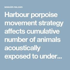 Harbour porpoise movement strategy affects cumulative number of animals acoustically exposed to underwater explosions