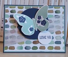 Windy's Wonderful Creations, Stampin' Up!, Floral Wings, English Garden DSP