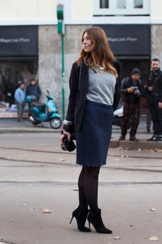 she has such great style - and finally someone who isn't stick thin! dig her all the way - via http://www.thesartorialist.com/photos/on-the-street-angela-milan/