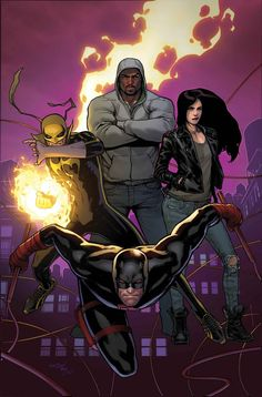 "netflixdefenders: "" Marvel Announces New Defenders Title By Bendis & Marquez Daredevil, Luke Cage, Jessica Jones and Iron Fist, heroes who are headlining their own shows on Netflix and are to team. Marvel Dc Comics, Heros Comics, Bd Comics, Marvel Vs, Marvel Heroes, Luke Cage Comics, Luke Cage Marvel, Star Comics, Comic Book Characters"