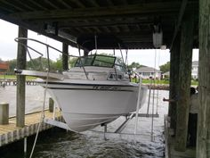 First installation of ShoreStation 6k Hydraulic Boat House Lift ...A success!!- at La Porte,Texas.
