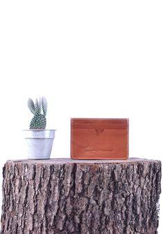 KNOWLEDGE COTTON APPAREL - Portecartes - Homme - Porte carte marron intérieur rayé - Taille Unique