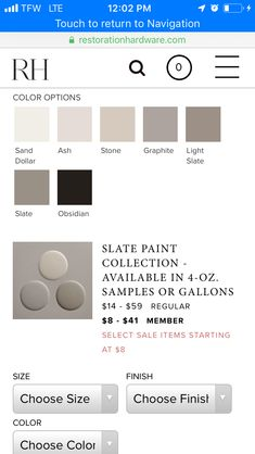 Slate paint color by restoration hardware . Grey with the slightest hint of deep green