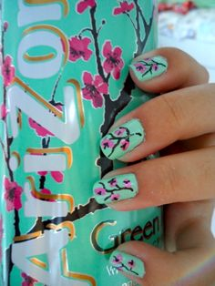 Okay, so I am so not into all the nail art/glitter/differing shades, but I have always loved my favorite tea label design. Cool!