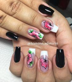 35 Fotos de Unhas decoradas outono – Passo a passo Nail Manicure, Pedicure, Nail Polish, Pretty Nail Designs, Nail Art Designs, Cute Nails, Pretty Nails, Butterfly Nail, Nails 2018