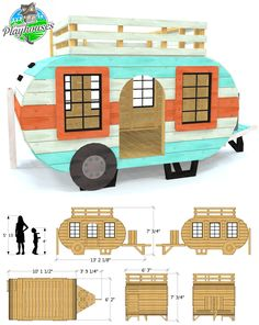 Glue And Stitch Boat Plans Backyard Playground, Backyard For Kids, Backyard Projects, Diy Pallet Projects, Diy For Kids, Pallet Ideas, Pallet Playhouse, Playhouse Plans, Shed Windows