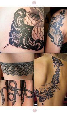 black lace tattoo - Google Search