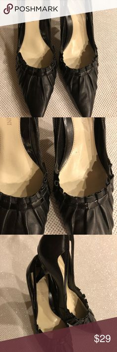 Enzo Angiolini Pumps Enzo Angiolini Black leather pumps.          SIZE: 7.5 MATERIAL: leather CONDITION: Preowned, Excellent condition. Worn once and look like new!  • Ships only within US. • From a smoke and pet free environment. • Please feel free to ask me any questions.  ❤️All reasonable offers will be considered. Please do not offer 50% below the listing price. Thank you😊 Enzo Ngiini Shoes Heels