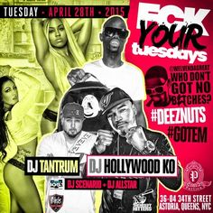 Fck Your Tuesdays @ Purlieu Tuesday April 28, 2015 « Bomb Parties – Club Events and Parties – NYC Nightlife Promotions