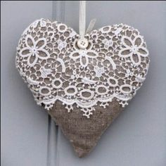 cloth heart decoration. don't you just <3 it?