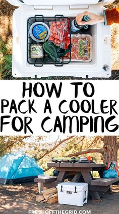 to Pack a Cooler like a Pro Our best tips for how to pack a cooler for camping & how to make ice last longer in a cooler.Our best tips for how to pack a cooler for camping & how to make ice last longer in a cooler. Camping Diy, Camping Guide, Camping Checklist, Camping Essentials, Tent Camping, Outdoor Camping, Camping Stuff, Camping Gadgets, Camping Items