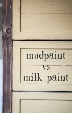 We've received lots of questions about how MudPaint compares to Milk Paint. Miss Mustard Seed's milk paint is a completely different type of paint than Mudpaint. She has a great product, but it's v...