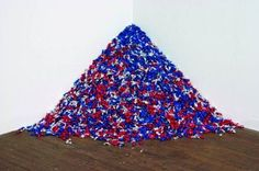 """Felix Gonzalez-Torres. """"Untitled"""" (Portrait of Ross in L.A.) is an allegorical representation of the artist's partner, Ross Laycock, who died of an AIDS-related illness in 1991."""