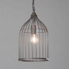 Litecraft Haddon 1 Light Brown cage pendant- at Debenhams Mobile Dark Grey, Brown And Grey, Grey Skies, Bird Cage, Inspired Lighting, Bold Colors, Light In The Dark, Ceiling Lights