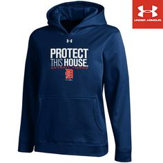 Detroit Tigers Youth Protect this House Fleece Hood by Under Armour®   - MLB.com Shop