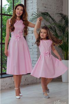 Сукня літня для дівчинки з поясом-бантом • колір: рожевий у горошок • інтернет магазин • vilenna.ua