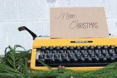 LBC Brown Kraft Paper Card : Mixed Font Merry Christmas