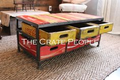 6 Crate Coca – Cola Coffee Table | The Crate People