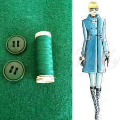 Couture et Tricot: A sixties-style green coat (Marfy2268): fabrics, toile and interfacings - Um casaco verde estilo anos 60: tecidos, modelo de prova e entretelas, tany sews and knits, sewing tips, sewing tutorials, dicas de costura, passo-a-passo costura, tutoriel couture, paso a paso coser