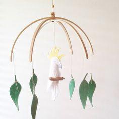 Australian Nursery, Australian Animals, Nursery Themes, Nursery Decor, Nursery Ideas, Bird Mobile, Color Crafts, Fairy Godmother, Amigurumi