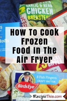 How To Cook Frozen Food In The Air Fryer. Did you ever wonder the times? how easy it is? or if it is possible to cook all your favourite frozen food in the air fryer? Well it is, and this is my guide for learning how to cook frozen food in the Air Fryer. Air Fryer Recipes Potatoes, Air Fryer Oven Recipes, Air Frier Recipes, Air Fryer Dinner Recipes, Power Air Fryer Recipes, Air Fryer Cooking Times, Cooks Air Fryer, Air Fryer Chicken Tenders, Air Fryer Chicken Wings