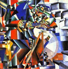 Kasimir Malevitch, Le rémouleur, 1912-13, Yale University Art Gallery