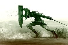 Link from Legend of Zelda - a powerful image made even stronger by the monochromatic treatment O_o