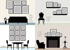 Create An Eclectic Gallery Wall layout ideas