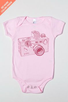 Argus Camera Drawing Baby One-Piece