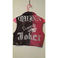 Suicide Squad Harley Quinn Vest ($75) ❤ liked on Polyvore featuring outerwear, vests, punk rock vest, punk vest and vest waistcoat