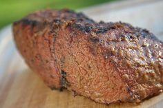 Grilled Bottom Round Roast (with good steak marinade recipe)