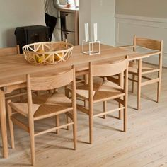 Shop SUITE NY for the Dining Table designed by Hans J. Wegner for Carl Hansen and Søn and more modern furniture including modern solid wood dining tables. Dining Table Design, Solid Wood Dining Table, Dining Arm Chair, Dining Room, Dining Tables, Danish Furniture, Table Furniture, Modern Furniture, Esstisch Design