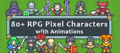 80+ RPG Sprites w Animations - 2D Game Sprites
