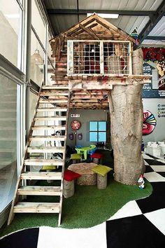Indoor-Baumhäuser - coole Ideen für Kinder - toller Spielplatz