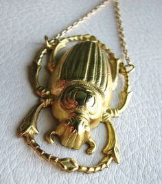scarab necklace $18