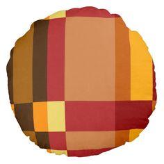 Retro Striped Pattern Pillow