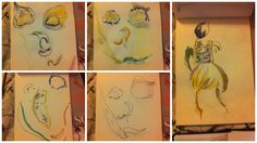 Here are some observational drawings of the images I had created using the vegetables! I have thought i could do this perhaps on photoshop and use photos of vegetables in stead of drawing them, and edit them so they are in a pop art sort of style.