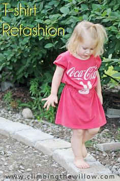 Climbing the Willow: Tshirt to cute dress:: it's refashion month at house of estrela