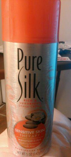 Women's PURE SILK Rich & Luxurious Shave Cream w/ ALOE * SENSITIVE SKIN * 8 oz. #PureSilkFromTheMakersOfBarbasol