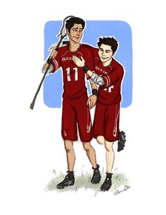 McCall and Stilinski and Lacrosse by Salzburger89.deviantart.com on @DeviantArt