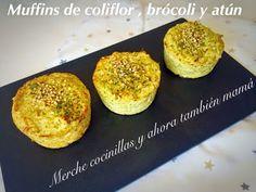 Merche cocinillas y ahora también mamá: Muffins de coliflor, brócoli y atún