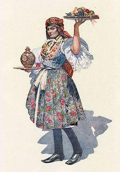 Mařaťanka by Joža Uprka, 1914 Folk Costume, Costumes, Historical Costume, Eastern Europe, Best Artist, Czech Republic, Fashion History, Art And Architecture, Traditional Outfits
