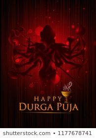 Happu Durga Puja festival India holiday background. Vector illustration Happy Durga Puja, India Holidays, God Prayer, Festival Posters, Indie, Royalty Free Stock Photos, Illustration, Vectors, Illustrations