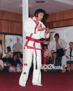 Music legend Elvis Presley used to do Karate
