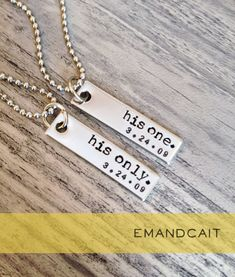 His One His Only / Gay Couples Jewelry / LGBT by EmandCait on Etsy, $24.00