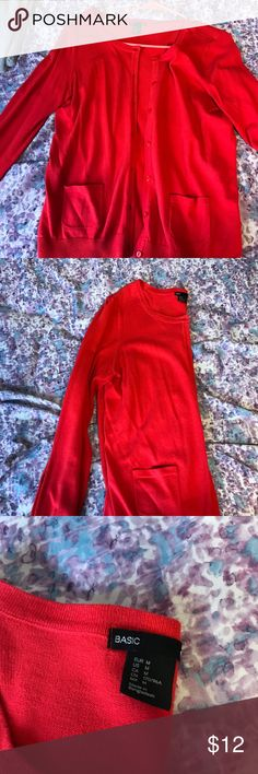 Scarlet H&M Cardigan Scarlet H&M cardigan size Medium. Had pockets on side, in good condition H&M Sweaters Cardigans